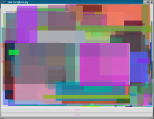 screen shot of the cairo rectangles